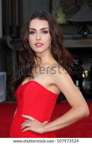 "LOS ANGELES - JUL 17:  Kathryn McCormick arrives at the ""Step Up Revolution"" Premiere at Graumans Chinese Theater on July 17, 2012 in Los Angeles, CA"