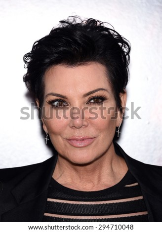 "LOS ANGELES - JUL 07:  Kris Jenner arrives to the ""The Gallows"" Los Angeles Premiere  on July 07, 2015 in Hollywood, CA                 - stock photo"