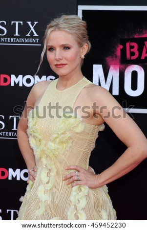 """LOS ANGELES - JUL 26:  Kristen Bell at the """"Bad Moms"""" Los Angeles Premiere at the Village Theater on July 26, 2016 in Westwood, CA - stock photo"""