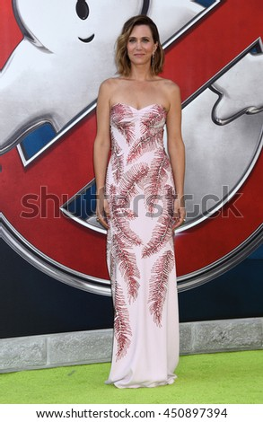 """LOS ANGELES - JUL 9:  Kristen Wiig arrives to the """"Ghostbusters"""" World Premiere  on July 9, 2016 in Hollywood, CA                 - stock photo"""