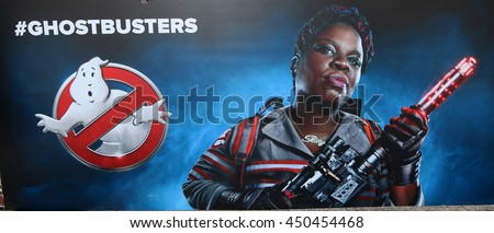 LOS ANGELES - JUL 9:  Leslie Jones Ghostbusters Poster at the Ghostbusters Premiere at the TCL Chinese Theater IMAX on July 9, 2016 in Los Angeles, CA - stock photo