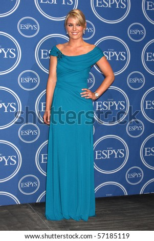 LOS ANGELES - JUL 14:  Lindsey Vonn  in the Press Room of the 2010 ESPY Awards at Nokia Theater - LA Live on July14, 2010 in Los Angeles, CA .... - stock photo