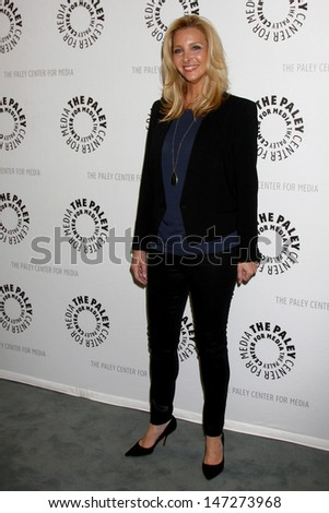 """LOS ANGELES - JUL 16:  Lisa Kudrow arrives at  """"An Evening With Web Therapy: The Craze Continues..."""" at the Paley Center for Media on July 16, 2013 in Beverly Hills, CA - stock photo"""