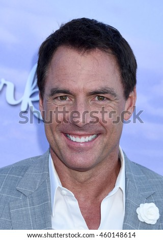 LOS ANGELES - JUL 27:  Mark Steines arrives to the Hallmark Channel and Hallmark Movies and Mysteries Summer 2016 TCA Press Tour Event  on July 27, 2016 in Beverly Hills, CA                 - stock photo