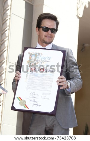 LOS ANGELES - JUL 29:  Mark Wahlberg at a ceremony where he receives a star on the Hollywood Walk of Fame on July 29, 2010 in Los Angeles, California.