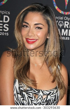 LOS ANGELES - JUL 31:  Nicole Scherzinger at the Special Olympics Inaugural Dance Challenge at the Wallis Annenberg Center For The Performing Arts on July 31, 2015 in Beverly Hills, CA - stock photo