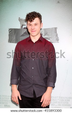 "LOS ANGELES - JUL 19:  Nolan Gould at the ""Lights Out"" Los Angeles Premiere at the TCL Chinese Theater IMAX on July 19, 2016 in Los Angeles, CA - stock photo"