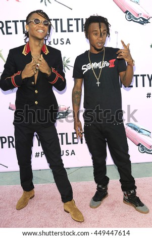 LOS ANGELES - JUL 7: Rae Sremmurd at the prettylittlething.com launch party at a private residence on July 7, 2016 in Los Angeles, California