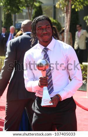 LOS ANGELES - JUL 11:  Robert Griffin III arrives at the 2012 ESPY Awards at Nokia Theater at LA Live on July 11, 2012 in Los Angeles, CA