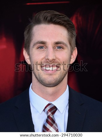 "LOS ANGELES - JUL 07:  Ryan Shoos arrives to the ""The Gallows"" Los Angeles Premiere  on July 07, 2015 in Hollywood, CA                 - stock photo"