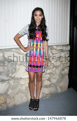 LOS ANGELES - JUL 27:  Samantha Logan arrives at the 2013 General Hospital Fan Club Luncheon  at the Sportsman's Lodge on July 27, 2013 in Studio City, CA - stock photo