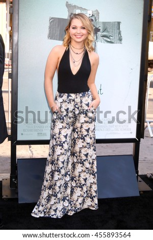 "LOS ANGELES - JUL 19:  Sammi Hanratty at the ""Lights Out"" Los Angeles Premiere at the TCL Chinese Theater IMAX on July 19, 2016 in Los Angeles, CA - stock photo"