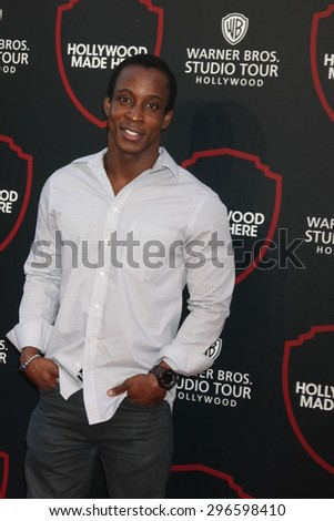 LOS ANGELES - JUL 14:  Shaka Smith at the Warner Bros. Studio Tour Hollywood Expansion Official Unveiling, Stage 48: Script To Screen at the Warner Brothers Studio on July 14, 2015 in Burbank, CA - stock photo