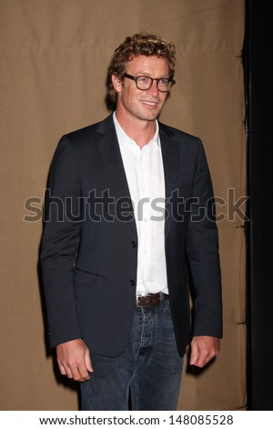 LOS ANGELES - JUL 29:  Simon Baker arrives at the 2013 CBS TCA Summer Party at the private location on July 29, 2013 in Beverly Hills, CA