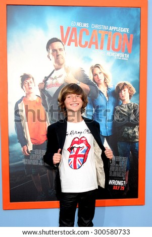 "LOS ANGELES - JUL 27:  Steele Stebbins at the ""Vacation"" Premiere at the Village Theater on July 27, 2015 in Westwood, CA"