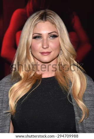 "LOS ANGELES - JUL 07:  Taylor-Ann Hasselhoff arrives to the ""The Gallows"" Los Angeles Premiere  on July 07, 2015 in Hollywood, CA                 - stock photo"