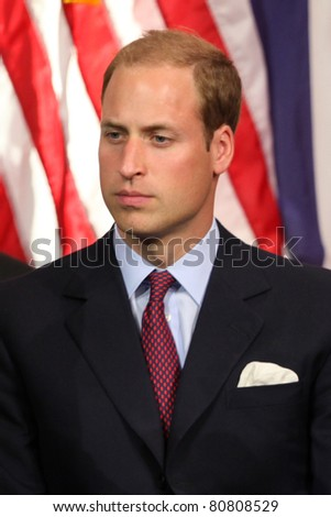 "LOS ANGELES - JULY 10:  Prince William, Duke of Cambridge  The Duke And Duchess Of Cambridge attend The Mission Serve ""Hiring Our Heroes"" Job Fair at Sony Pictures on July 10, 2011 in Culver City, CA - stock photo"