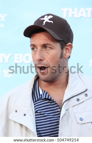 LOS  ANGELES- JUN 4: Adam Sandler at the premiere of Columbia Pictures' 'That's My Boy' at the Regency Village Theater on June 4, 2012 in Los Angeles, California - stock photo