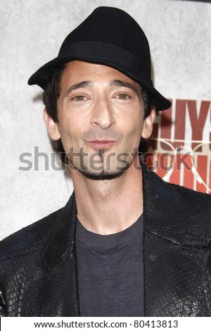 "LOS ANGELES - JUN 5: Adrien Brody at the Spike TV's 4th Annual ""Guys Choice Awards"" at Sony Studios in Culver City, Los Angeles, California on June 5, 2010"