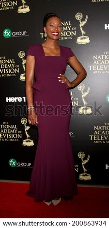LOS ANGELES - JUN 22:  Aisha Tyler at the 2014 Daytime Emmy Awards Arrivals at the Beverly Hilton Hotel on June 22, 2014 in Beverly Hills, CA - stock photo