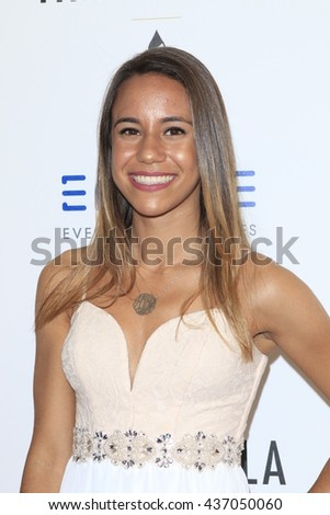 LOS ANGELES - JUN 13:  Alicia Villafana at the 7th Annual Thirst Gala at the Beverly Hilton Hotel on June 13, 2016 in Beverly Hills, CA - stock photo