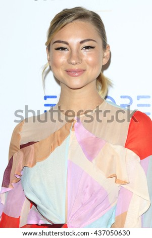 LOS ANGELES - JUN 13:  Allie Gonino at the 7th Annual Thirst Gala at the Beverly Hilton Hotel on June 13, 2016 in Beverly Hills, CA - stock photo
