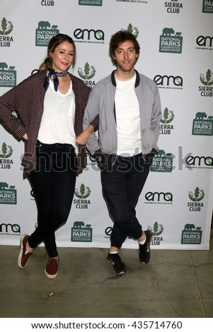 LOS ANGELES - JUN 11:  Amanda Crew, Thomas Middleditch at the Give Back Day to Celebrate National Park Service Centennial at the Franklin Canyon Park on June 11, 2016 in Beverly Hills, CA - stock photo