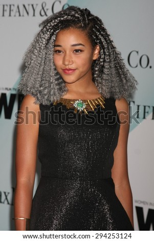 LOS ANGELES - JUN 16:  Amandla Stenberg at the Women In Film 2015 Crystal + Lucy Awards at the Century Plaza Hotel on June 16, 2015 in Century City, CA  - stock photo