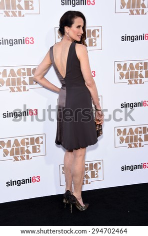 "LOS ANGELES - JUN 25:  Andie MacDowell arrives to the ""Magic Mike XXL"" World Premiere  on June 25, 2015 in Hollywood, CA"