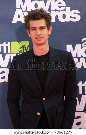 LOS ANGELES - JUN 5:  Andrew Garfield arriving at the the 2011 MTV Movie Awards at Gibson Ampitheatre on June 5, 2011 in Los Angeles, CA - stock photo
