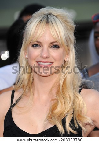 """LOS ANGELES - JUN 09:  Anna Faris arrives to the """"22 Jump Street"""" World Premiere  on June 09, 2014 in North Hollywood, CA                 - stock photo"""