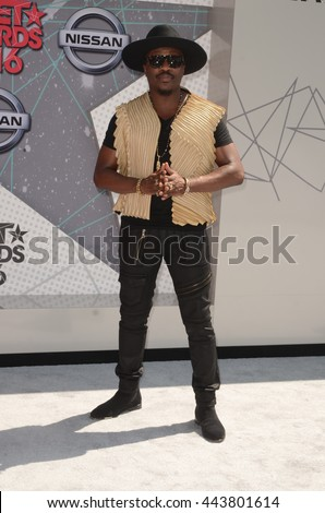 LOS ANGELES - JUN 26:  Anthony Hamilton at the BET Awards Arrivals at the Microsoft Theater on June 26, 2016 in Los Angeles, CA - stock photo