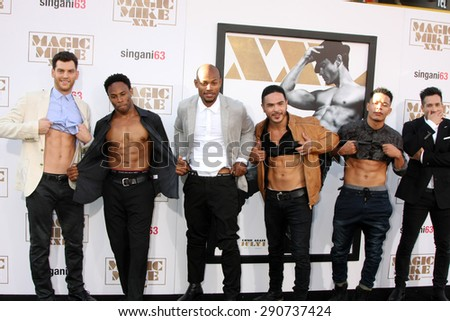 "LOS ANGELES - JUN 25:  Atmosphere at the ""Magic Mike XXL"" Premiere at the TCL Chinese Theater on June 25, 2015 in Los Angeles, CA - stock photo"