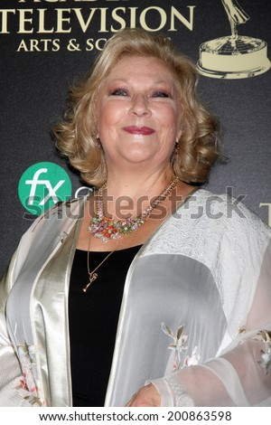 LOS ANGELES - JUN 22:  Beth Maitland at the 2014 Daytime Emmy Awards Arrivals at the Beverly Hilton Hotel on June 22, 2014 in Beverly Hills, CA - stock photo