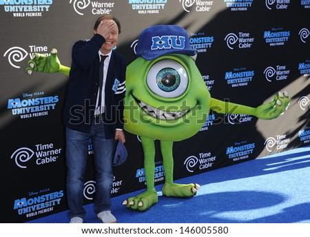 """LOS ANGELES - JUN 17:  Billy Crystal arrives to the '""""Monsters University"""" World Premiere  on June 17, 2013 in Hollywood, CA                 - stock photo"""