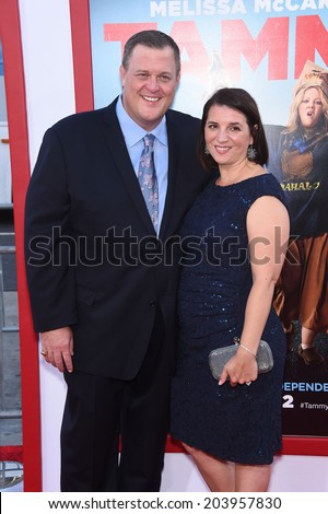 """LOS ANGELES - JUN 30:  Billy Gardell & Patty Gardell arrives to the """"Tammy"""" Los Angeles Premiere  on June 30, 2014 in Hollywood, CA                 - stock photo"""