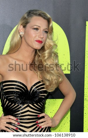 "LOS ANGELES - JUN 25:  Blake Lively arrives at the ""Savages"" Premiere at Village Theater on June 25, 2012 in Westwood, CA"