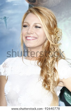 LOS ANGELES - JUN 15: Blake Lively at the premiere of Warner Bros. Pictures' 'Green Lantern' held at Grauman's Chinese Theatre in Los Angeles,CA on June 15, 2011. - stock photo