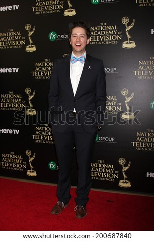 LOS ANGELES - JUN 22:  Bradford Anderson at the 2014 Daytime Emmy Awards Arrivals at the Beverly Hilton Hotel on June 22, 2014 in Beverly Hills, CA - stock photo