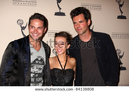 LOS ANGELES - JUN 16: Brandon Barash, Lexi Ainsworth, Jason Thompson at the Academy of Television Arts and Sciences Daytime Emmy Nominee Reception at SLS Hotel on June 16, 2011 in Beverly Hills, CA
