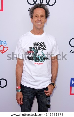 LOS ANGELES - JUN 8:  Brian Grazer arrives at the 1st Annual Children Mending Hearts Style Sunday at the Private Residence on June 8, 2013 in Beverly Hills, CA