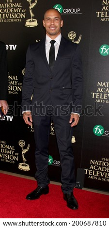 LOS ANGELES - JUN 22:  Bryton James at the 2014 Daytime Emmy Awards Arrivals at the Beverly Hilton Hotel on June 22, 2014 in Beverly Hills, CA - stock photo