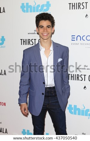 LOS ANGELES - JUN 13:  Cameron Boyce at the 7th Annual Thirst Gala at the Beverly Hilton Hotel on June 13, 2016 in Beverly Hills, CA - stock photo