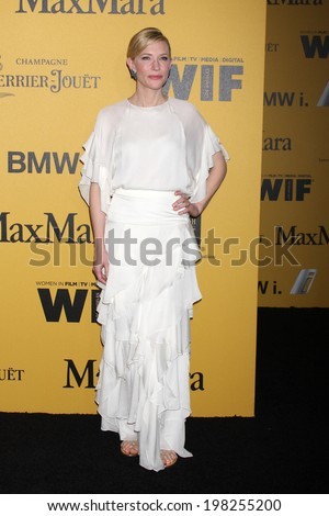 LOS ANGELES - JUN 11:  Cate Blanchett at the Women In Film 2014 Crystal + Lucy Awards at Century Plaza Hotel on June 11, 2014 in Beverly Hills, CA - stock photo