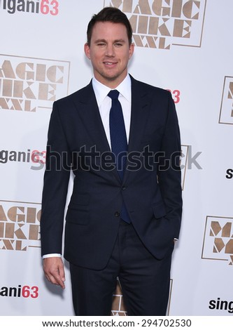 "LOS ANGELES - JUN 25:  Channing Tatum arrives to the ""Magic Mike XXL"" World Premiere  on June 25, 2015 in Hollywood, CA                 - stock photo"
