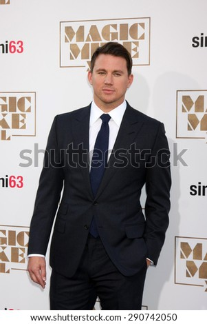 "LOS ANGELES - JUN 25:  Channing Tatum at the ""Magic Mike XXL"" Premiere at the TCL Chinese Theater on June 25, 2015 in Los Angeles, CA - stock photo"