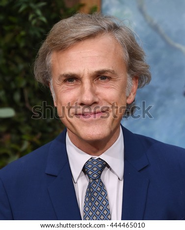 "LOS ANGELES - JUN 27:  Christoph Waltz arrives to the ""The Legend of Tarzan"" World Premiere on June 27, 2016 in Hollywood, CA                 - stock photo"