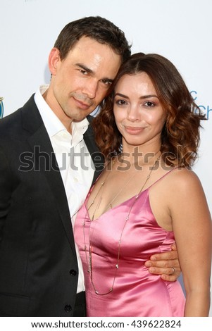 LOS ANGELES - JUN 18: Christopher Gorham, Ariel Lopez at the Stand For Kids Gala at the Twentieth Century Fox Studios Lot on  ,  June 18, 2016 in Century City, CA - stock photo