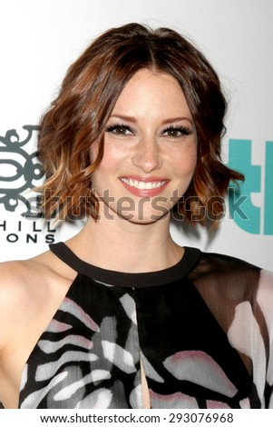 LOS ANGELES - JUN 30:  Chyler Leigh at the 6th Annual Thirst Gala at the Beverly Hilton Hotel on June 30, 2015 in Beverly Hills, CA - stock photo
