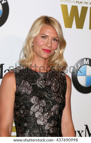 LOS ANGELES - JUN 15:  Clare Danes at the Women In Film 2016 Crystal and Lucy Awards at the Beverly Hilton Hotel on June 15, 2016 in Beverly Hills, CA - stock photo